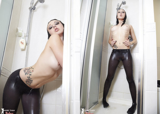Zoe Moore - Wet Tresses, Tatt's And Tights - Solo Picture Gallery