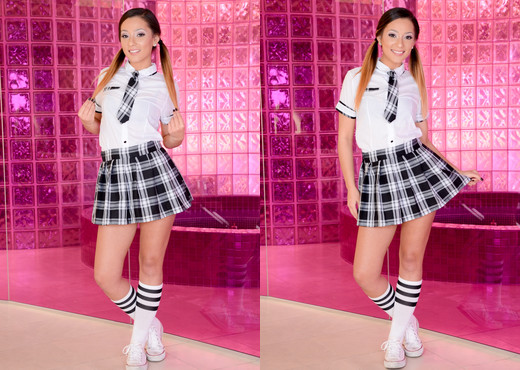 Jaye Summers - Schoolgirl Jaye's Anal Education - Evil Angel - Solo HD Gallery