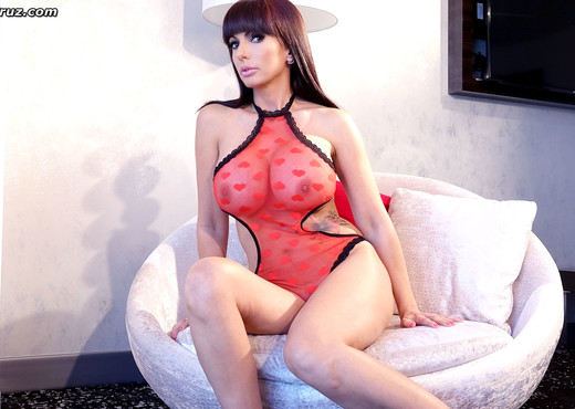 Catalina Cruz in sexy red lingerie for Valentines Day - Solo Image Gallery