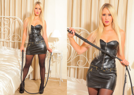 Candice Leather Skirt - Strictly Glamour - Solo Sexy Gallery