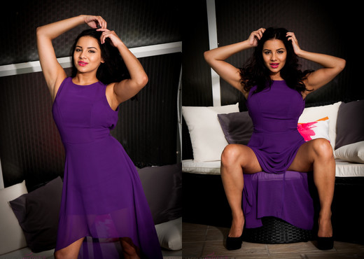 Lacey Banghard - Purple Dress - Solo Nude Gallery