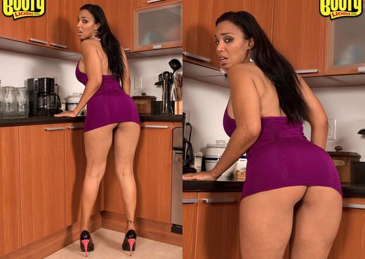 Soleil Hughes - Big Barbadian Booty - Bootylicious Mag - Ebony Sexy Photo Gallery