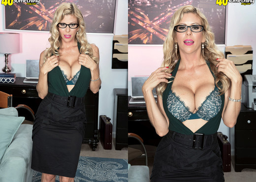 Alexis Fawx, busty secretary - 40 Something Mag - MILF Image Gallery