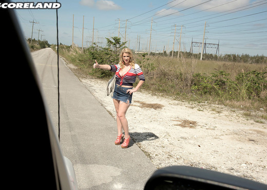 Rockell - The Busty Hitcher - ScoreLand - Boobs Sexy Photo Gallery
