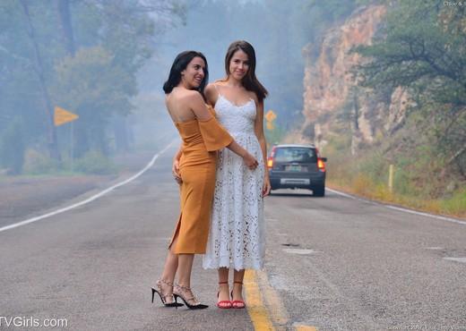 Saraya & Chloe - Public Coupling - FTV Girls - Lesbian Image Gallery