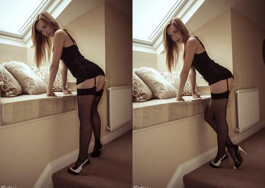 Sophia Smith - Back To Black - Sophia's Sexy Legwear - Solo Nude Pics