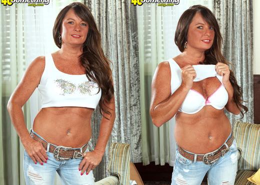 Debbie - Naughty Biker Babe - 40 Something Mag - MILF Nude Pics
