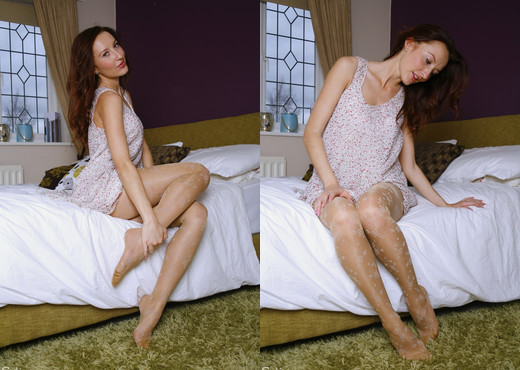 Sophia Smith - Snowflake - Sophia's Sexy Legwear - Solo Sexy Photo Gallery