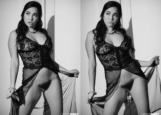 Karlee Grey is Sultry in Black & White While She Masturbates - Solo Porn Gallery