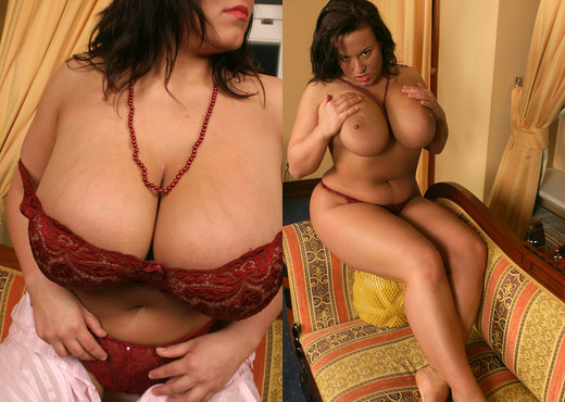 Aneta in red lingerie - Aneta Buena - Boobs Picture Gallery