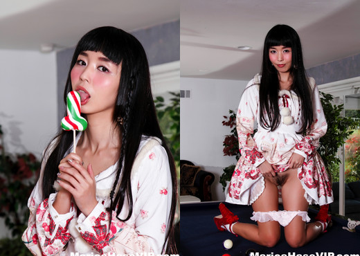 Marica uses a candy cock on her wet pussy - Marica Hase - Asian Hot Gallery