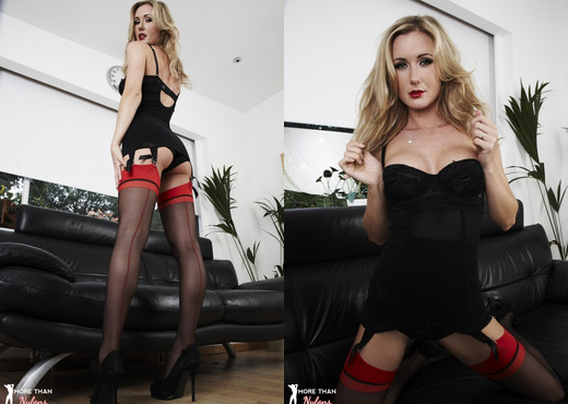 Sam Tye - Red Does NOT Mean Stop - More Than Nylons - Solo Sexy Gallery
