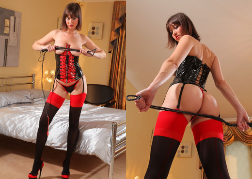 Carol - C Red Basque - Strictly Glamour - Solo HD Gallery