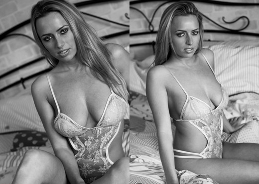 Holly Gibbons - Holly Black And White - Hayley's Secrets - Solo Image Gallery