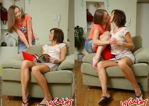 Horny Lesbians Lucille & Ariel - Lez Cuties - Lesbian Porn Gallery