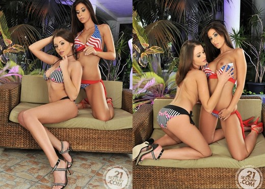 Nelly Sullivan, Ashley Brooke - Lesbian Nude Pics