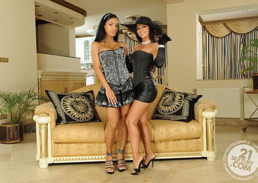Christina Bella, Kyra Black - Lesbian Sexy Gallery