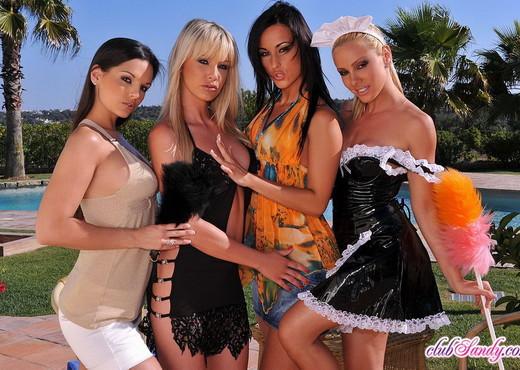 Sandy, Eve, Simone, Natalli - Lesbian Nude Gallery