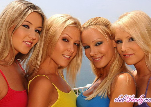 Lesbian Foursome with Sandy, Sophie, Jasmin and Cherry Jul - Lesbian HD Gallery