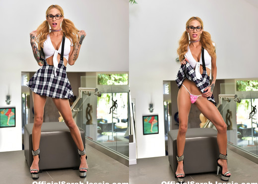 Sarah Jessie is a sexy schoolgirl - Solo Hot Gallery
