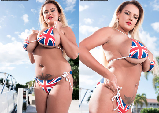 Katie Thornton - Rule, Britannia Bikini! - ScoreLand - Boobs Porn Gallery
