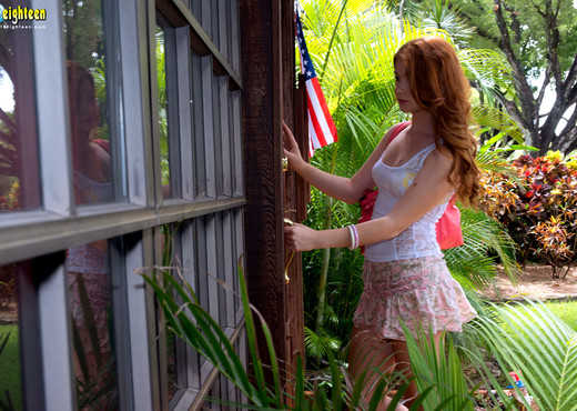 Ava Sparxxx - Locked Out - 18eighteen - Teen Image Gallery