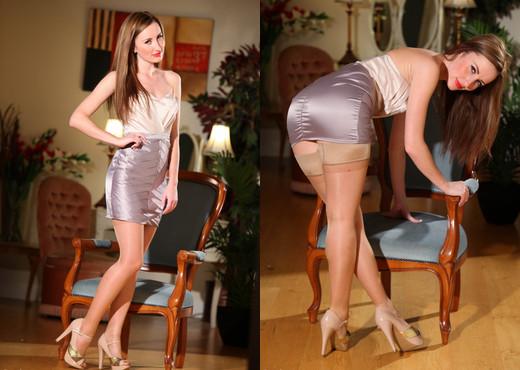 Sophia Smith - Decisions Decisions - Sophia's Sexy Legwear - Solo Picture Gallery