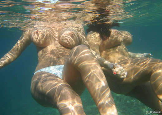 Aneta and Kora UnderWater - My Boobs - Boobs HD Gallery