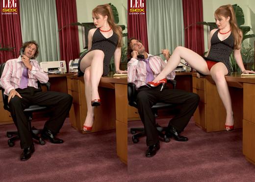 Lucy Fire - Frisky Feet - Leg Sex - Feet TGP