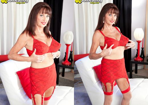 Ciara Blue In Red - 40 Something Mag - MILF Nude Gallery