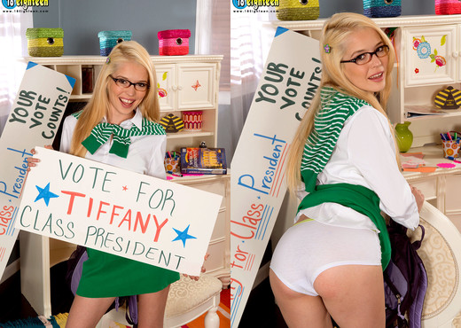 Tiffany Fox - Vote 4 Pussy! - 18eighteen - Teen TGP