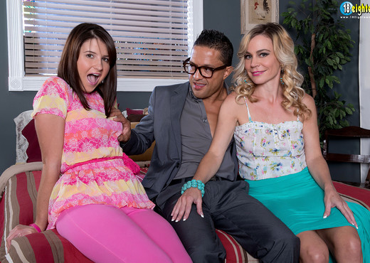 Olivia Lovely - Olivias Milf Threesome - 18eighteen - Teen HD Gallery