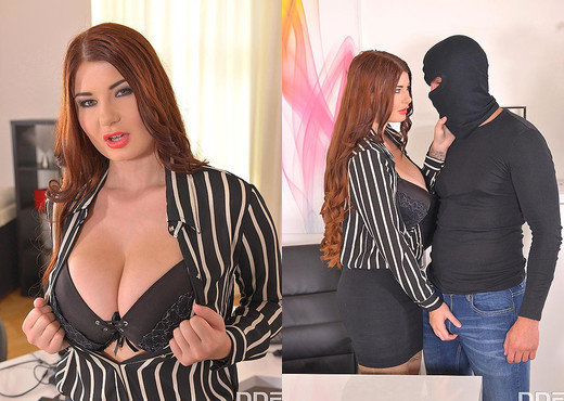 Horny Self-Defense - Hardcore Office Fuck And Cum On Tits - Boobs Sexy Gallery