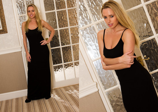 Holly Gibbons - Holly Black Dress - Hayley's Secrets - Solo HD Gallery