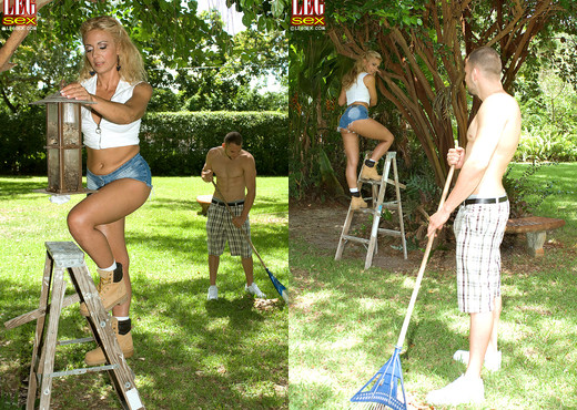 Jazella Moore - A Gardener's Long Stems - Leg Sex - Feet Picture Gallery
