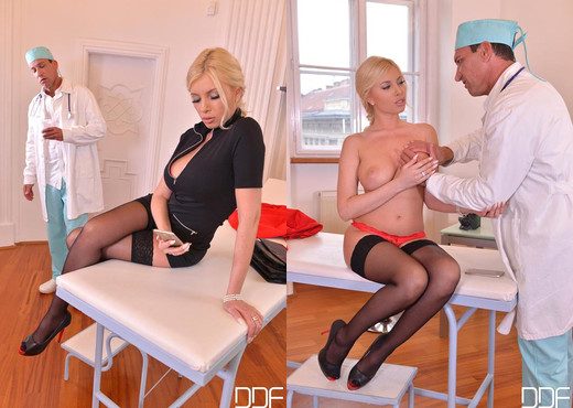 Unforeseen Examination - Horny Doc Penetrates Blonde - Hardcore Sexy Photo Gallery