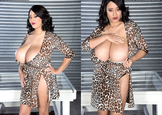 Roxi Red - Roxi Through Glass - ScoreLand - Boobs HD Gallery