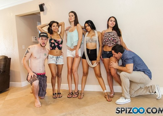 Miami Orgy - guys fuck the shit out of 4 girls - Spizoo - Hardcore Sexy Gallery