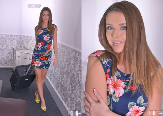 Horny in the Hallway - Newcomer Plays With Pocket Rocket - Toys Sexy Photo Gallery