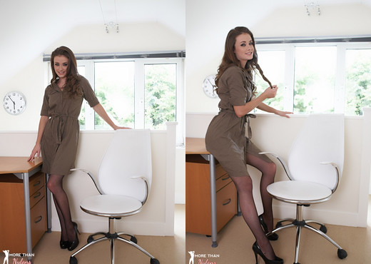 Jess Impiazzi - Office With A View - More Than Nylons - Solo Picture Gallery