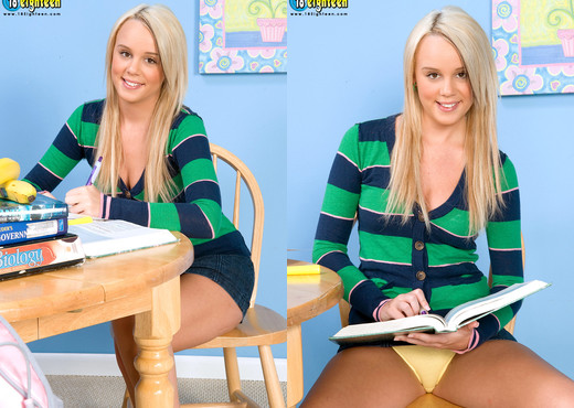 Alexis Adams - Smart Blonde - 18eighteen - Teen Sexy Gallery