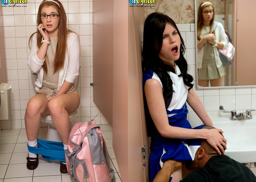Heather Night, Ava Sparxxx - Corrupting The Nerd - Teen Image Gallery