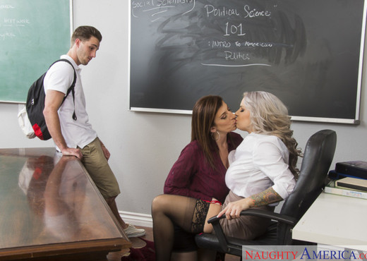 Alyssa Lynn & Sara Jay - My First Sex Teacher - MILF Picture Gallery