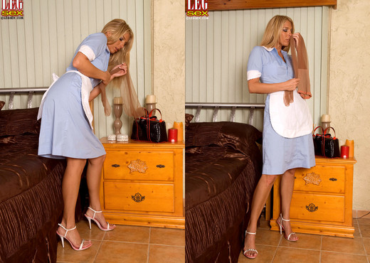 Jordan Kingsley - Leggy House Keeper Caught Red Handed - Feet Image Gallery