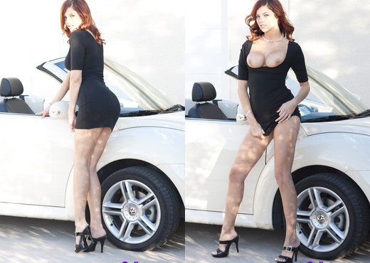 Redhead and fast car - Cali Teens - Teen Image Gallery