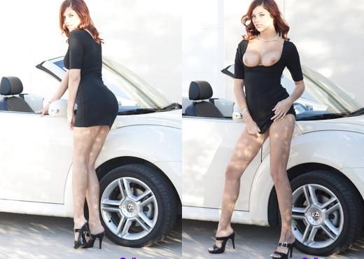 Redhead and fast car - Cali Teens - Teen Image Gallery