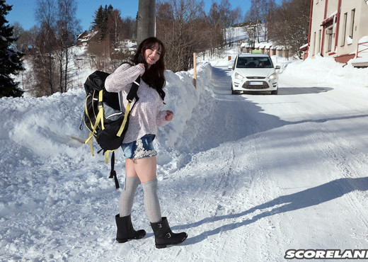 Vanessa Y. - The Busty Hitcher Who Came In From The Cold - Boobs Sexy Photo Gallery