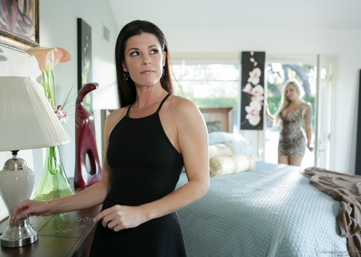 India Summer, Nina Elle - When the Cat's Away - Lesbian Sexy Gallery