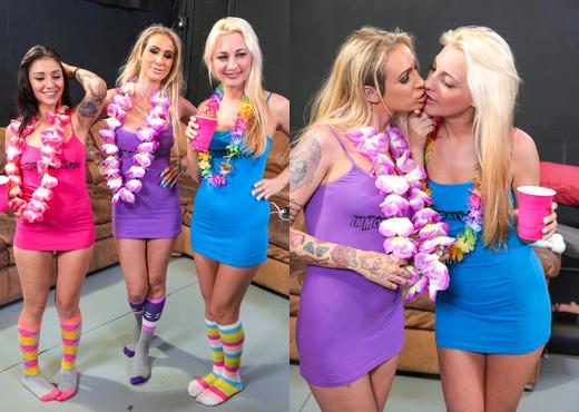 Porno Dan, DD Ventura, Hailey Holiday & Aimee Black - Immora - Hardcore Nude Gallery