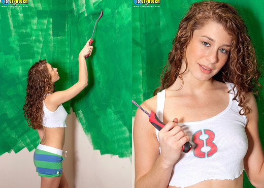 Elena Cole - Curly Cummer - 18eighteen - Teen Sexy Photo Gallery